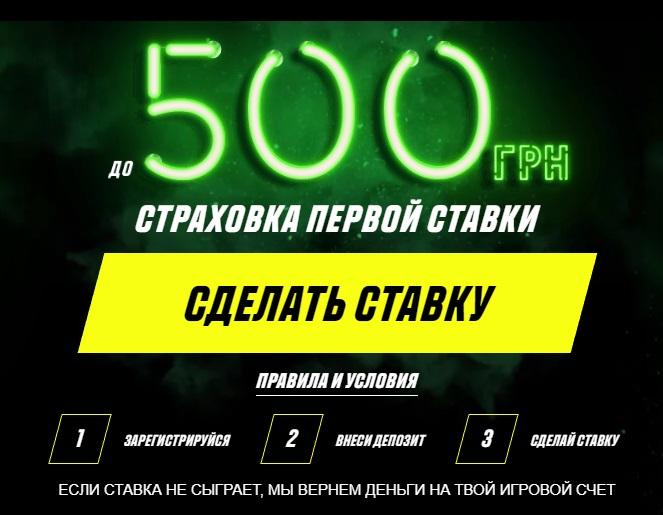 Парі Матч страховка ставки на 500 грн. Безкоштовно!